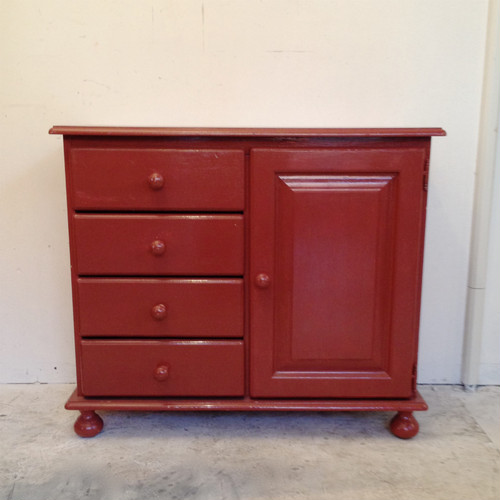 Pine Wood Paint Chest Holland