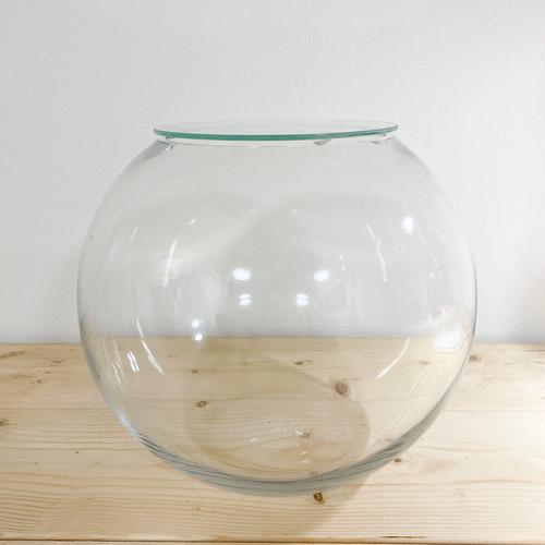 ガラスボール フタ付き