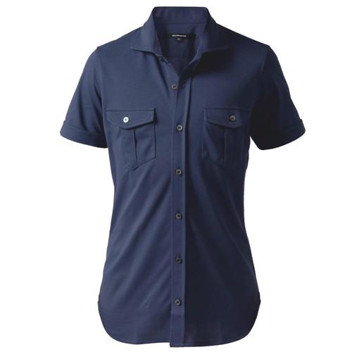 DJS-003 decollouomo メンズパイロットシャツ半袖 concorde - ライトネイビー
