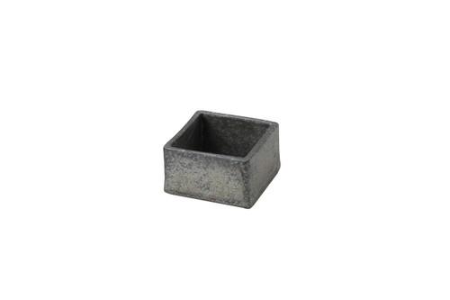 黒窯変3.0角小鉢