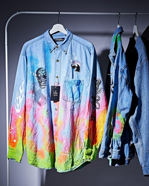 Spray denim shirt