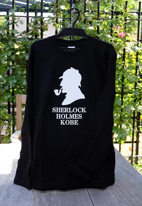 ロングTシャツ  SHERLOCK HOLMES KOBE 黒