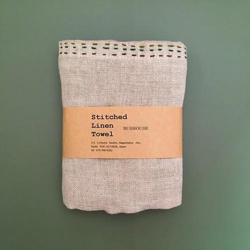 バスハウスのStitched Linen Towel(キッチンタオル)