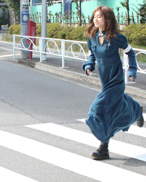 戦士のワンピース ロング/ブルー