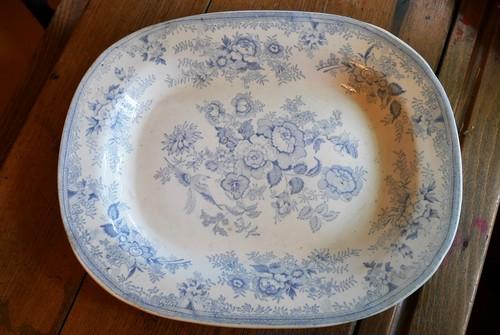 D25‐33 ブルー&ホワイト大皿