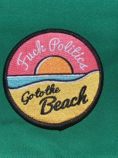 """Toughtimes""""GO TO THE BEACH PATCH"""""""