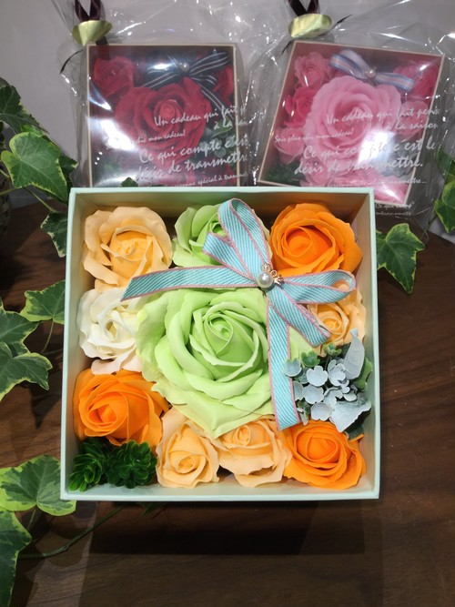 Soap Flower Square Box