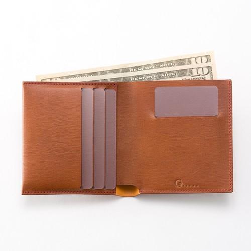 Slim Bi-fold wallet / Brown