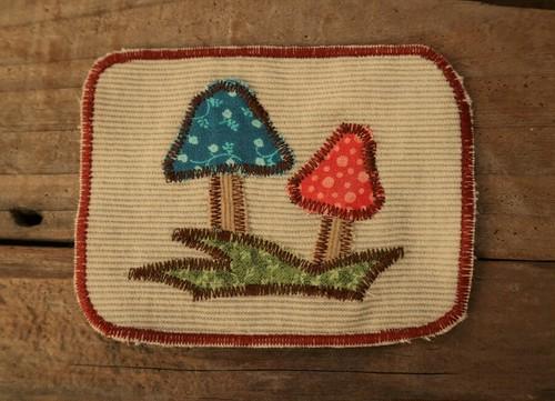 Hand made Patch  (Mushroom)