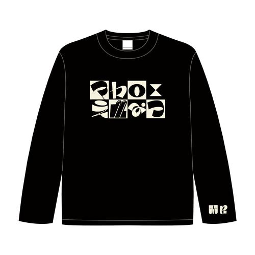 チェッカーロゴのロングTシャツ ( ブラック )