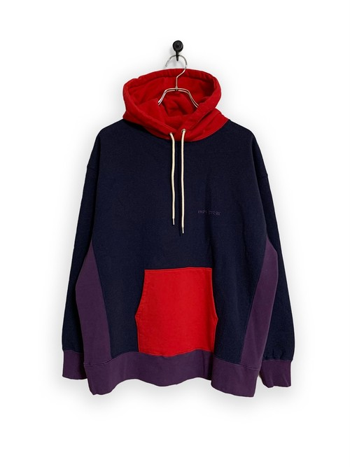 Original Hooded Sweatshirt / 3tone /navy×red×purple