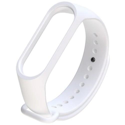 Xiaomi Band3/ Band4 用 交換カラーバンド:ホワイト