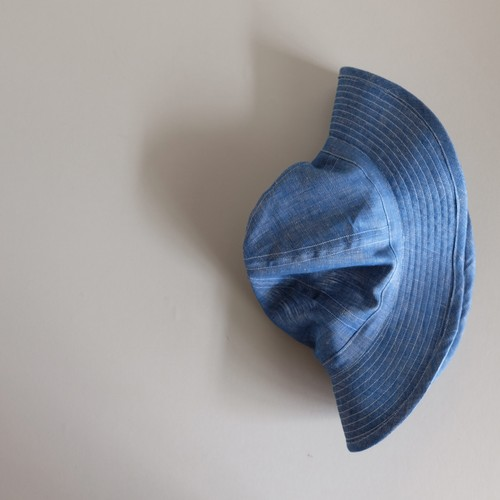 まぁるい 帽子 【linen hat】-  Light oz linen denim  -