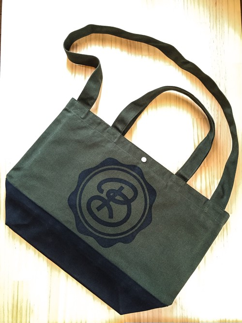 for Classics:CIRCLE LOGO / OLIVEDRAB / BLACK / BiCOLOR BODY / BLACK PRINT : DBKFC-BAG / 2WAY SHOULDER TOTE