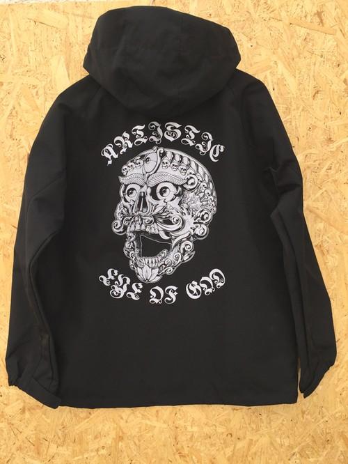 『Tibetan skull』シェルパーカー Black