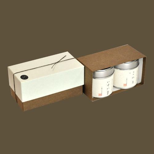 小缶2本箱 特選 山壽/八十八夜の茶