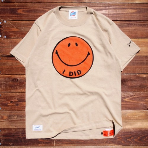 "【DARGO】""I DID"" Smile Face T-shirt (SAND BEIGE)"