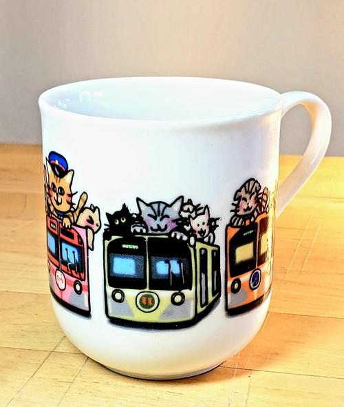 流鉄ネコいっぱい電車マグカップ