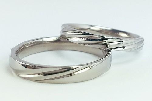 チタン結婚指輪 さざなみ<No8-4>