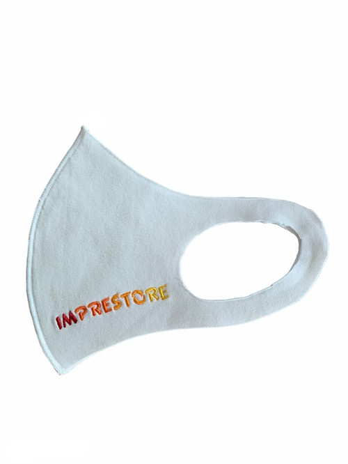 Logo face guard / white