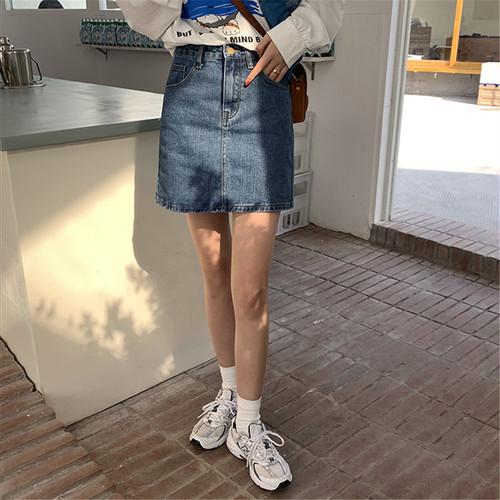 2色/デニムショートスカート ・2191