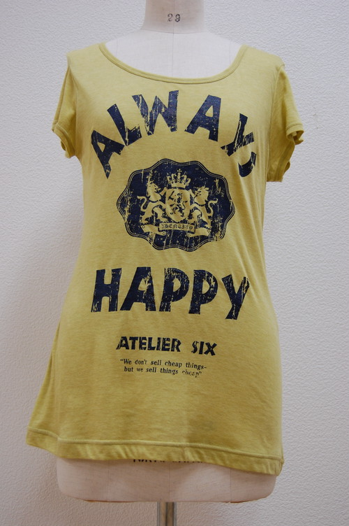 Tシャツ(ATLIER SIX・アトリエシックス)【マスタード:218659-M-yellow】
