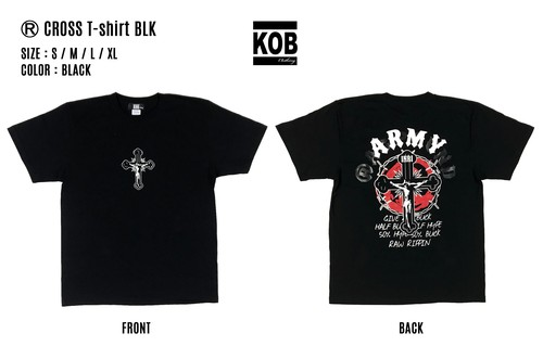 (R) CROSS T-shirt BLK