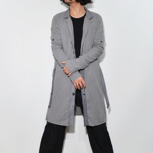 "Leather×Cotton ""Coat"" 〈 Asphalt Grey 〉"