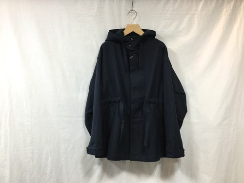 "UNIVERSALS PRODUCTS.""COTTON HOODED COAT NAVY"""