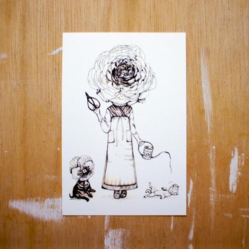 ポストカード150「花屋さん」 pc-150 10