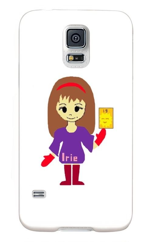 Irieキャラ魔除け手書き似顔絵スマホケース(Galaxy S5)※他アバター画像は問い合わせ対応可