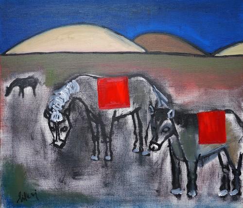 Modern art seris.  Horse(額付)