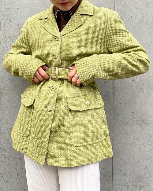 (PAL) open collar jacket