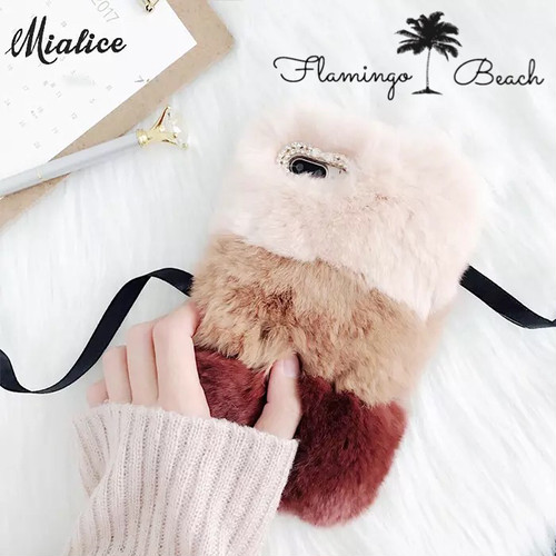 【FlamingoBeach】ファー iPhoneケース