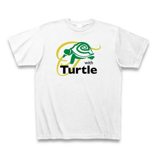 送料無料 いつもカメ/亀/タートルと一緒(爬虫類)オリジナル メンズTシャツ