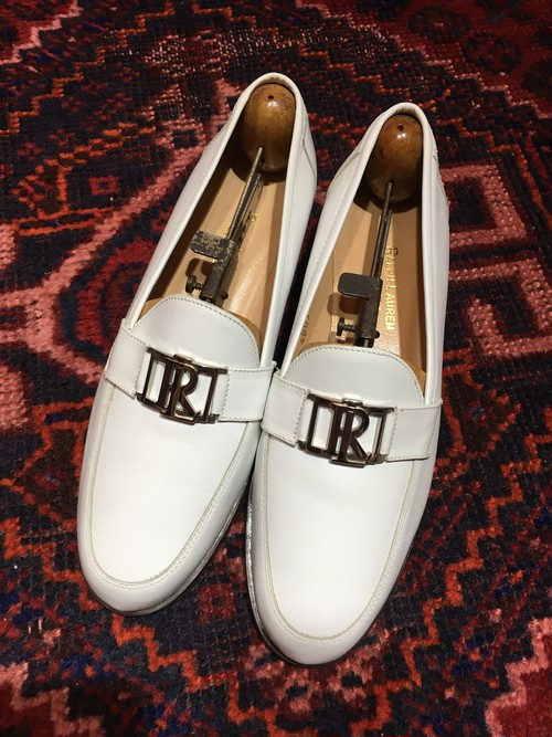 .Ralph Lauren LEATHER LOGO LOAFER  MADE IN ITALY/ラルフローレンレザーロゴローファー 2000000019352
