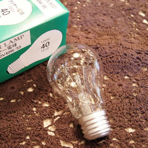 E26 40W 一般球 クリア (白熱電球)