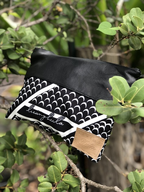 Living Hula Leather Clutch