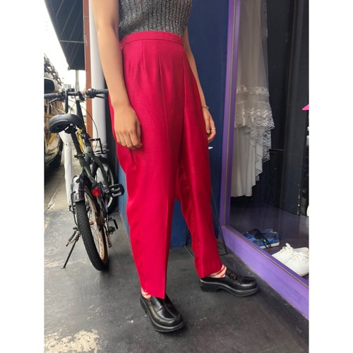 red tapered pants [B2493]