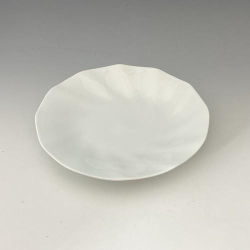 【中尾純】白磁輪花皿