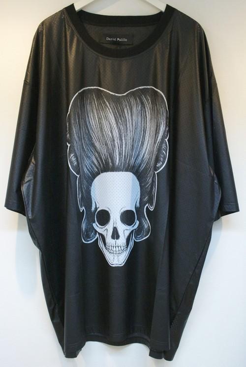 Daniel Palillo SKULL PRINT PLEATHER T-SHIRT スカル プリント Pレザー Tシャツ / BLACK 30%OFF