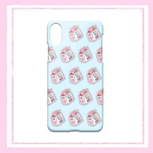 ミルク柄iphoneケース