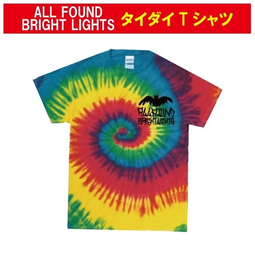 ALL FOUND BRIGHT LIGHTS タイダイ T-SHIRTS