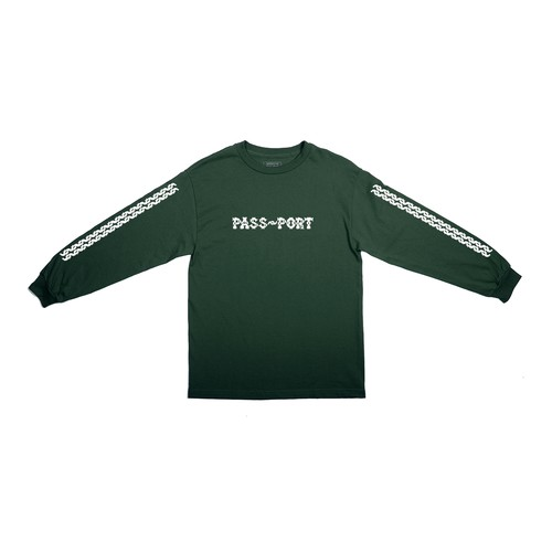 PASS PORT / BARBS L/S TEE -FOREST GREEN-