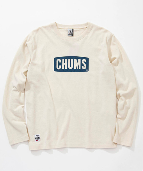 CHUMS(チャムス) Boat Logo L/S T-Shirt (ボートロゴロングスリーブTシャツ) Off White (オフホワイト) CH01-1284