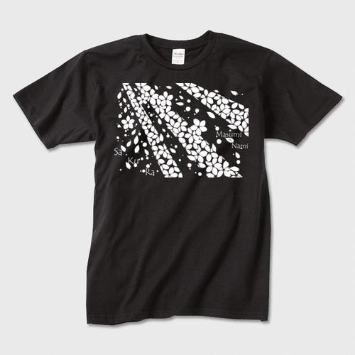 SaKuRa 黒/白 メンズTシャツ