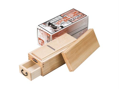 鰹節削り器 「鰹箱 いろり端 旨味」 すべり止めシール付(shop限定セット)