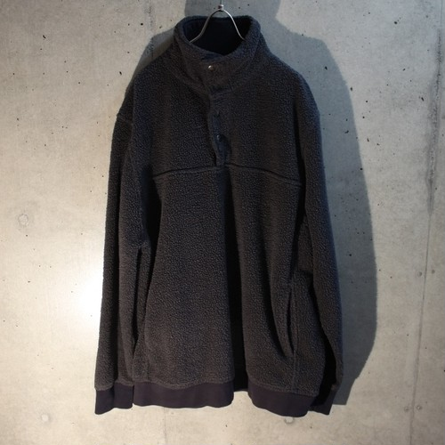 High-Necked Boa Pullover Sweat