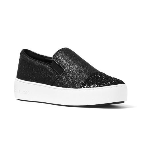 MICHAEL KORS Tia Glitter Platform Sneakers