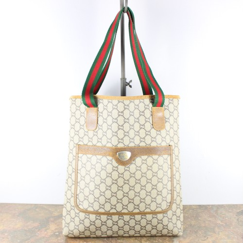 .OLD GUCCI PLUS SHERRY LINE GG PATTERNED TOTE BAG MADE IN ITALY/オールドグッチプラスシェリーラインGG柄トートバッグ 2000000053196